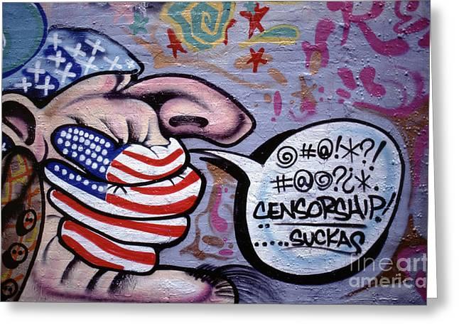 New York City Graffiti Greeting Cards - Graffiti New York City Greeting Card by Antonio Martinho