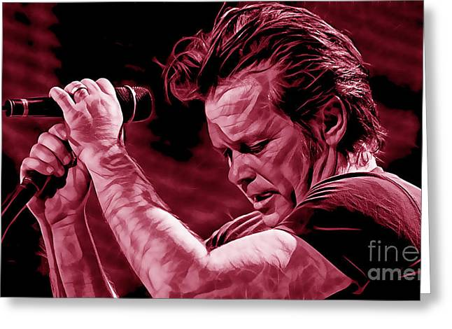 John Greeting Cards - John Mellencamp Collection Greeting Card by Marvin Blaine