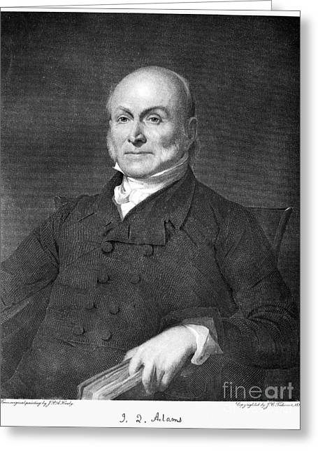 Sideburns Photographs Greeting Cards - John Quincy Adams Greeting Card by Granger