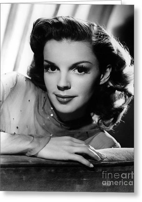 Actress Photographs Greeting Cards - Judy Garland (1922-1969) Greeting Card by Granger