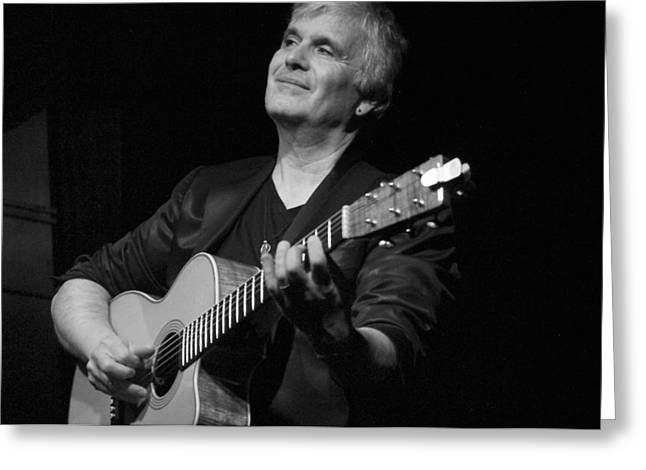 Laurence Greeting Cards - Laurence Juber Greeting Card by Nancy Clendaniel