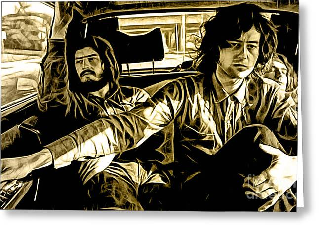 Led Zeppelin Collection Greeting Card by Marvin Blaine