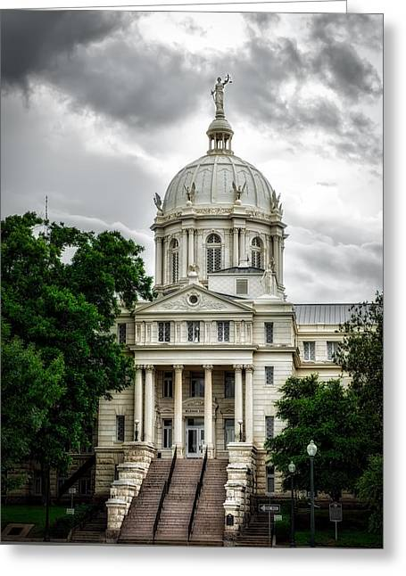 Mc Lennan County Courthouse - Waco Texas Greeting Card by Mountain Dreams
