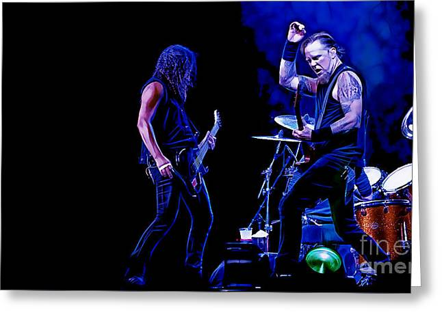 Metallica Mixed Media Greeting Cards - Metallica Collection Greeting Card by Marvin Blaine