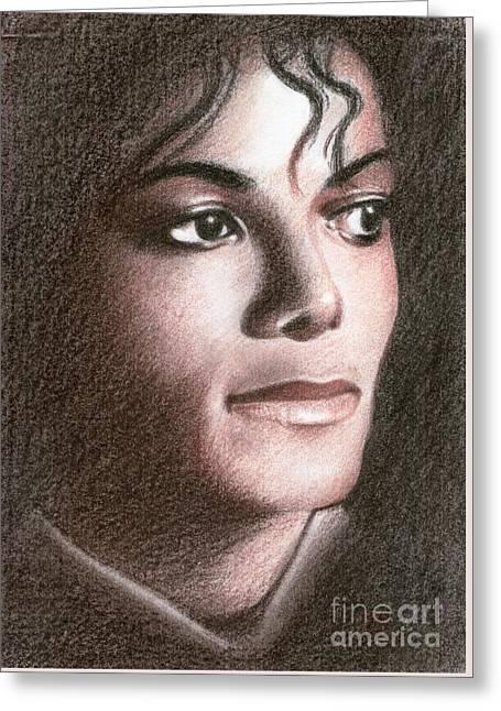 Jackson Pastels Greeting Cards - Michael Jackson Greeting Card by Eliza Lo