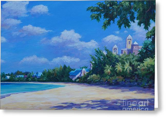 Beachscapes Greeting Cards - 7-Mile Beach Ritz Carlton   20x16 Greeting Card by John Clark