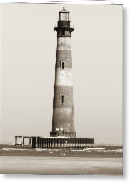 Historic Lighthouses Greeting Cards - Morris Island Lighthouse  Greeting Card by Dustin K Ryan
