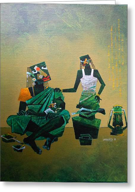 Mother And Child Greeting Card by Sharath Palimar