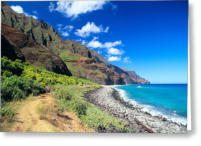 Peter French Greeting Cards - Na Pali Coast Greeting Card by Peter French - Printscapes
