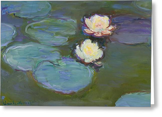 Lily Art Greeting Cards - Nympheas Greeting Card by Claude Monet