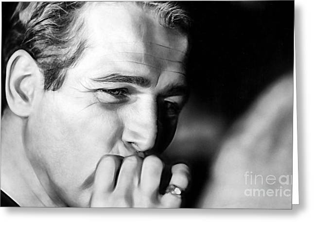 Kids Greeting Cards - Paul Newman Collection Greeting Card by Marvin Blaine