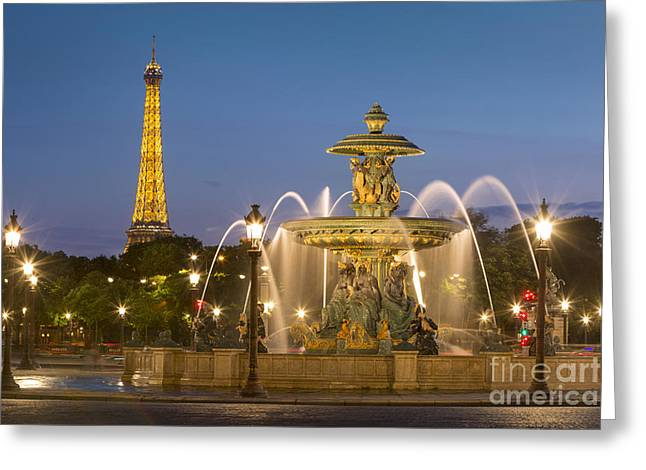 Art Of Building Greeting Cards - Place de la Concorde  Greeting Card by Brian Jannsen