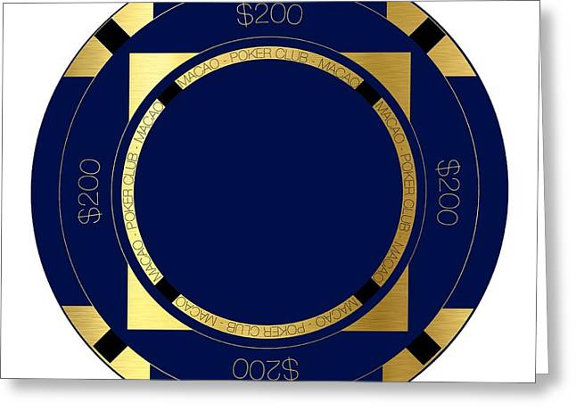 Game Piece Greeting Cards - Poker Chip Greeting Card by Francois Domain