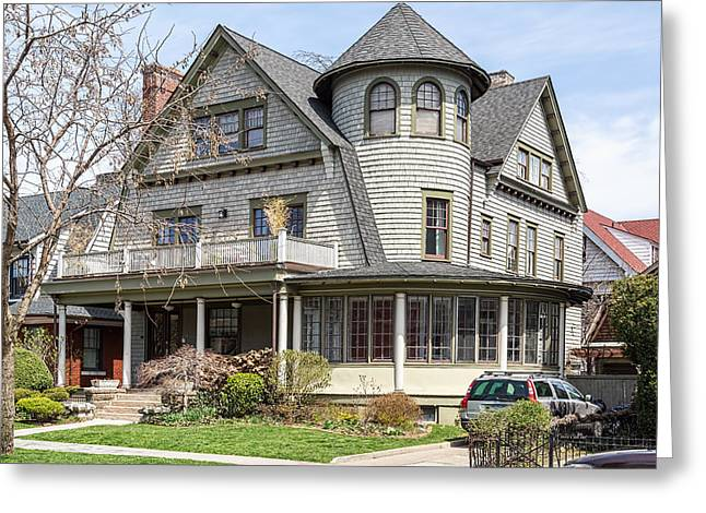 Historic Home Greeting Cards - Prospect Park South Historic District Greeting Card by Kenneth Grant