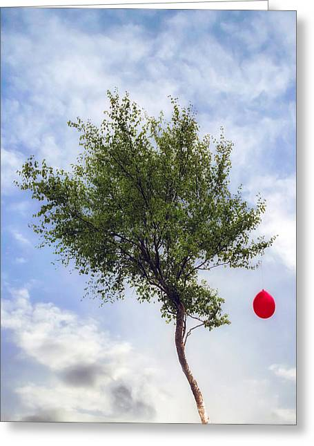 Red Balloons Greeting Cards - Red Balloon Greeting Card by Joana Kruse