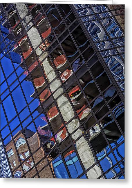 Architectur Greeting Cards - Reflective Glass Architecture Greeting Card by Robert Ullmann