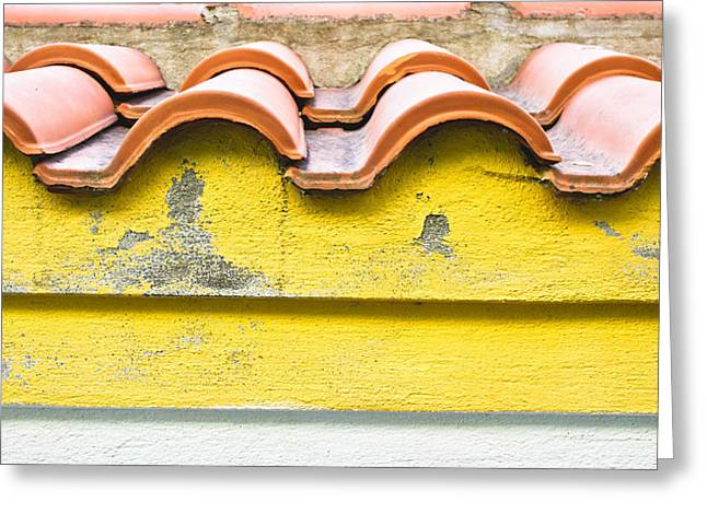 Roof Tiles Greeting Card by Tom Gowanlock