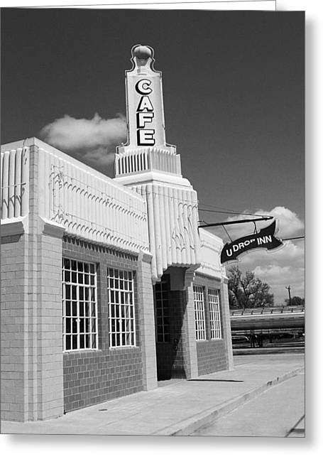 West Tx Greeting Cards - Route 66 - Conoco Tower Station Greeting Card by Frank Romeo