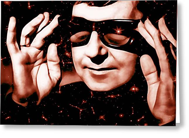 Roy Orbison Collection Greeting Card by Marvin Blaine