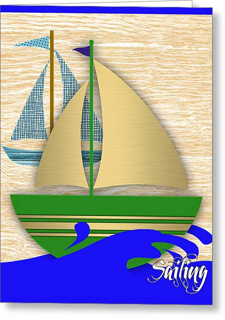 Boating Greeting Cards - Sailing Collection Greeting Card by Marvin Blaine