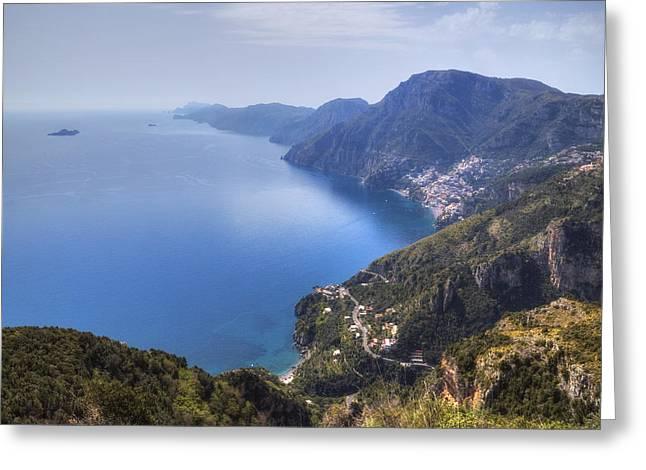 Sentiero Degli Dei - Amalfi Coast Greeting Card by Joana Kruse