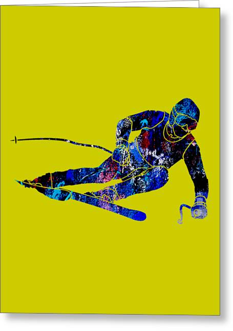 Ski Greeting Cards - Skiing Collection Greeting Card by Marvin Blaine