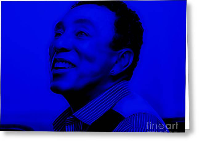 Smokey Robinson Collection Greeting Card by Marvin Blaine