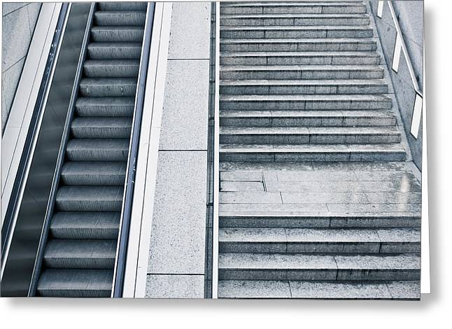 Stairs Greeting Card by Tom Gowanlock