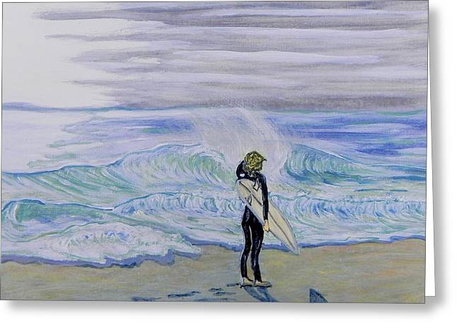 California Beach Art Greeting Cards - Surfart Greeting Card by W Gilroy