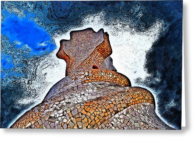 Rosary Greeting Cards - Textures Gaudi. Modern Style. Greeting Card by Andy Za