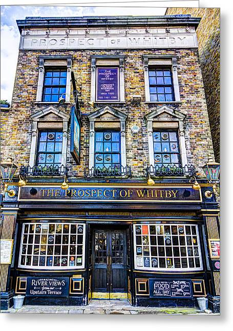 Prospects Photographs Greeting Cards - The Prospect Of Whitby Pub London Greeting Card by David Pyatt