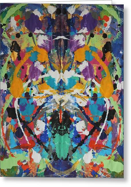Splashy Paintings Greeting Cards - Untitled Greeting Card by Beth  Landry