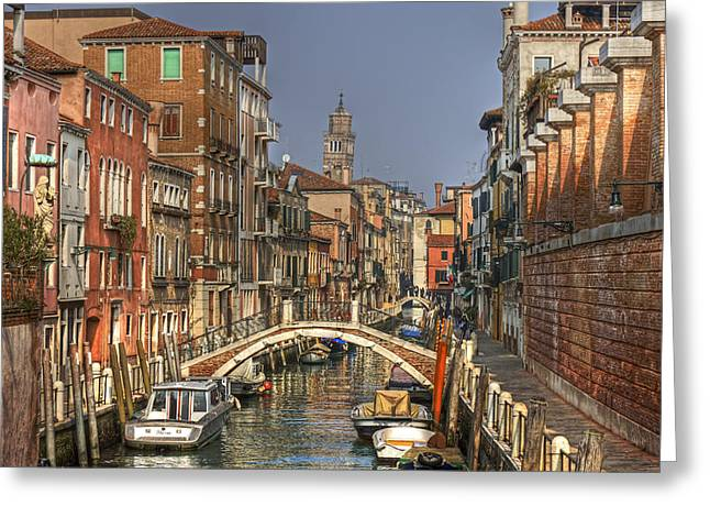 Italian Sunset Greeting Cards - Venice - Italy Greeting Card by Joana Kruse