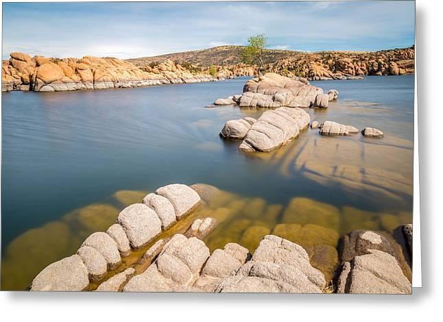 Watson Lake Greeting Card by Jon Manjeot