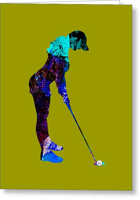 Womens Golf Collection Greeting Card by Marvin Blaine