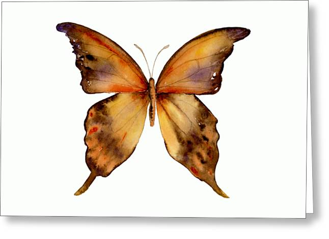 7 Yellow Gorgon Butterfly Greeting Card by Amy Kirkpatrick