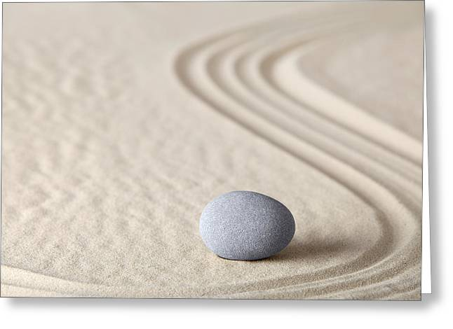 Asian Culture Greeting Cards - Zen Garden Greeting Card by Dirk Ercken