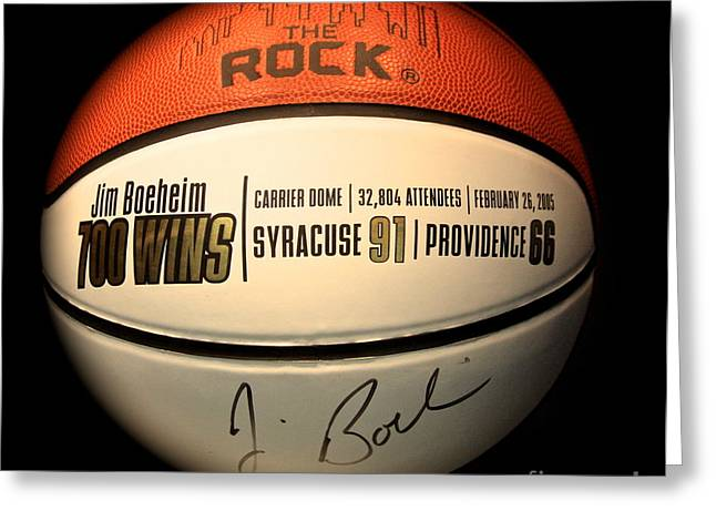 Syracuse University Basketball Greeting Cards - 700 Wins Greeting Card by Steve Ratliff