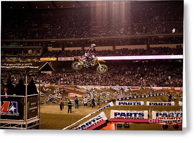 Supercross Greeting Cards - 7000 Greeting Card by Daniel  Knighton