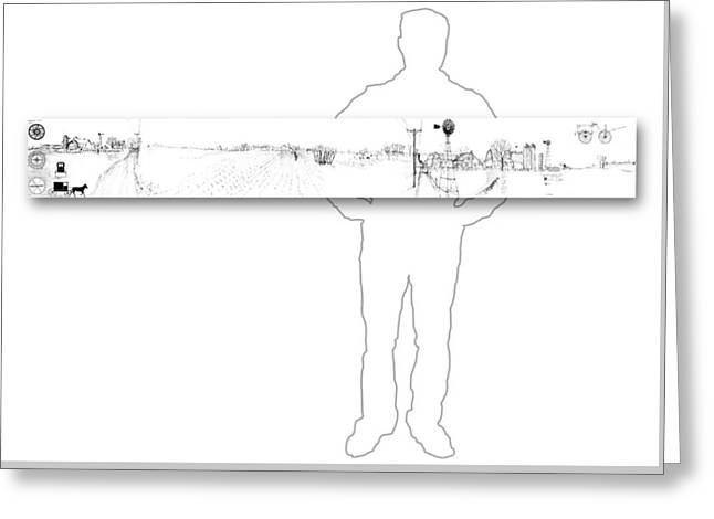 7.1.usa-1-horizontal-with-figure Greeting Card by Charlie Szoradi