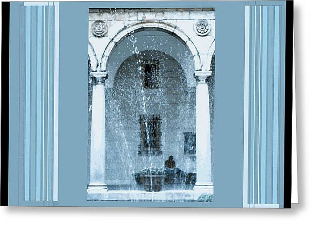 Shower Curtain Greeting Cards - Digital Artistry Greeting Card by Stephen Gredler