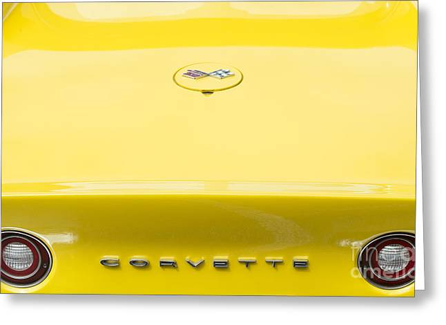 Chevrolet Trunk Greeting Cards - 72 Yellow Greeting Card by Tim Gainey