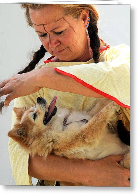 Puppies Photographs Greeting Cards - Mature female beauty. Greeting Card by Oscar Williams