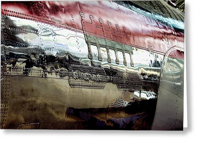 737 Rivets Greeting Card by David Patterson