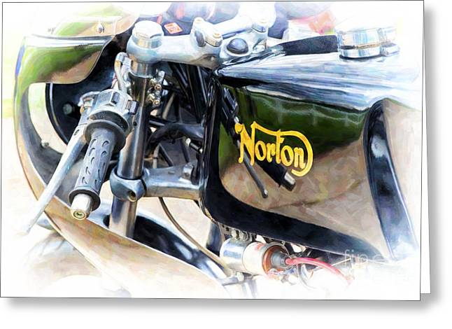 Commandos Greeting Cards - 750 Commando Cafe Racer Greeting Card by Tim Gainey