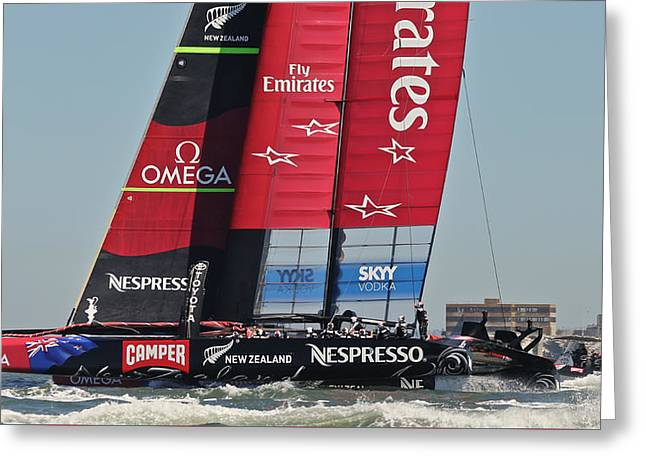 Americas Cup Greeting Cards - Americas Cup 34 Greeting Card by Steven Lapkin