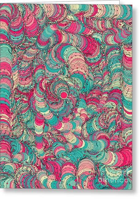 Abstract Digital Drawings Greeting Cards - 777 Greeting Card by Anita Fugoso