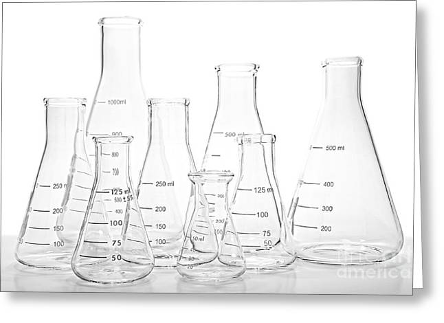 Clinical Greeting Cards - Laboratory Equipment in Science Research Lab Greeting Card by Olivier Le Queinec