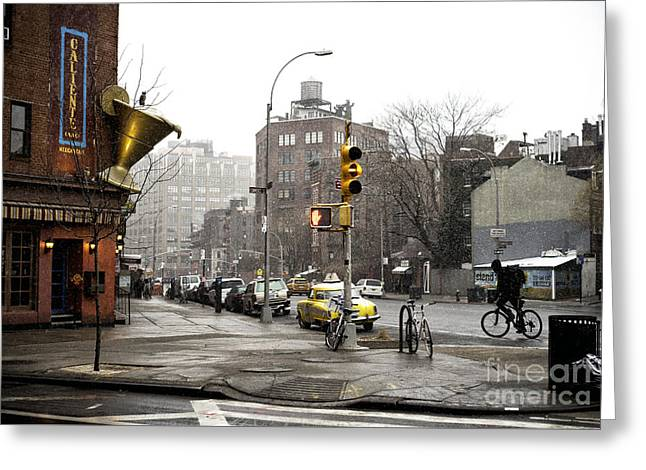 7th Avenue Moment Greeting Card by John Rizzuto