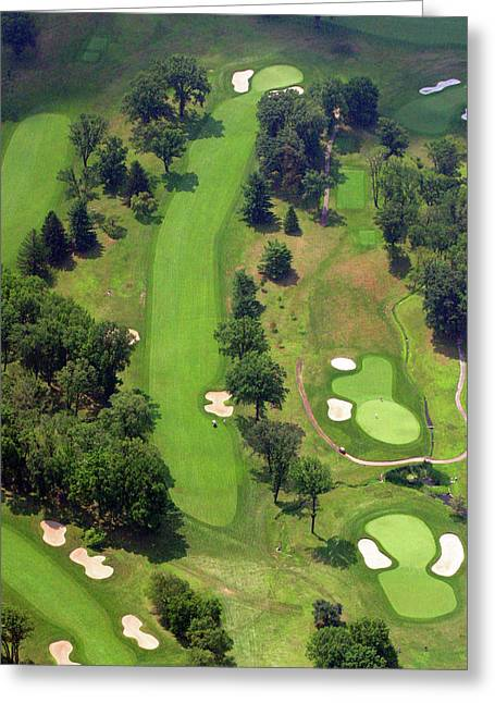 Plymouth Meeting Aerials Greeting Cards - 7th Hole Sunnybrook Golf Club 398 Stenton Avenue Plymouth Meeting PA 19462 1243 Greeting Card by Duncan Pearson